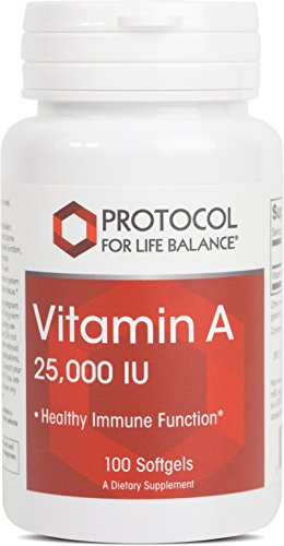 Protocol For Life Balance Vitamin A 25,000 IU Healthy Immune Function 100 Softgels