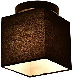 Moderno cubo negro paño cortina metal lámpara de techo pequeño techo luz E27 pasillo lámpara para baño escalera bderoom sala de entrada iluminación de techo, 17 * 17CM: Amazon.es: Iluminación