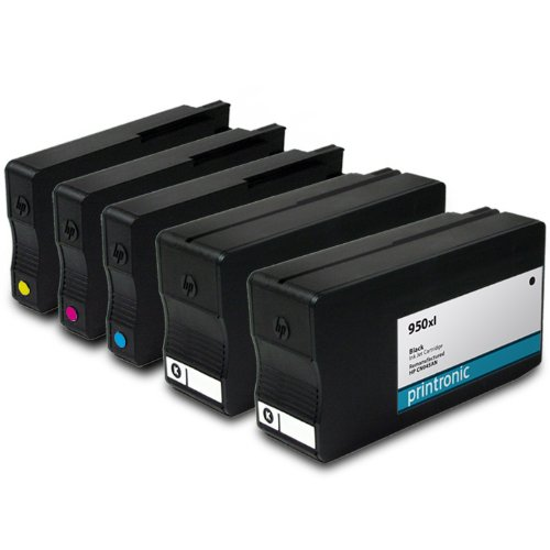Printronic Remanufactured Ink Cartridge Replacement for HP 950xl CN045AN ( Black,Cyan,Magenta,Yellow , 5-Pack )