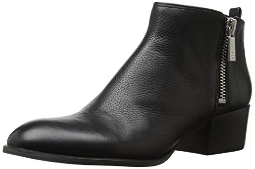 Kenneth Cole New York Women's 7 Addy Low Bootie With Double Zip Sides Ankle Boot, Black, 7.5 Medium (Kenneth Cole New York Pull)