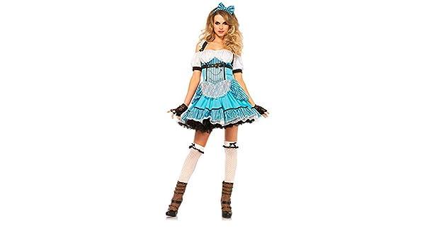 DISBACANAL Disfraz de Alicia Deluxe para Mujer - Único, L: Amazon ...