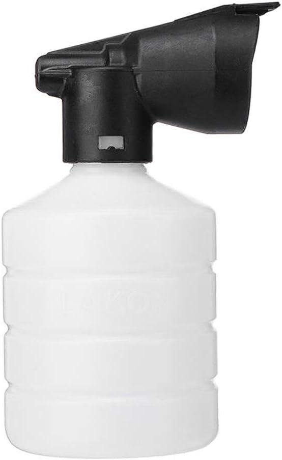 ZHJC Botella de Spray pulverizador 400ml Car Wash Espuma Boquilla Nieve Pistola de pulverización de Botella del rociador de riego del jardín Bote Spray Botella (Color : Blanco, Size : 400ml)