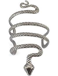 Vintage Punk Silver Snake Open Bangle Cuff Bracelet for Men Women