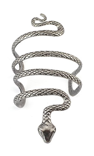 Idealway Vintage Punk Silver Snake Open Bangle Cuff Bracelet for Men Women