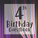4th Birthday Guestbook: Circus Curtain Themed - Fourth Party Toddler Children Event Celebration Keepsake Book - Family Friend Sign in Write Name, ... W/ Gift Recorder Tracker Log & Picture Space