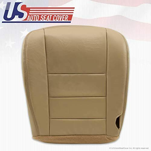 2002-2007 Fits Ford F250 F350 Super Duty Lariat Driver Bottom Leather Seat Cover TAN