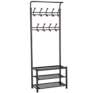 Yaheetech Metal Multi-Purpose Coat Stand with Hanging Hooks