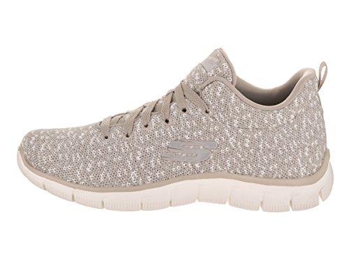Calzado deportivo para mujer, color Hueso , marca SKECHERS, modelo Calzado Deportivo Para Mujer SKECHERS EMPIRE CONNECTIONS Hueso Taupe