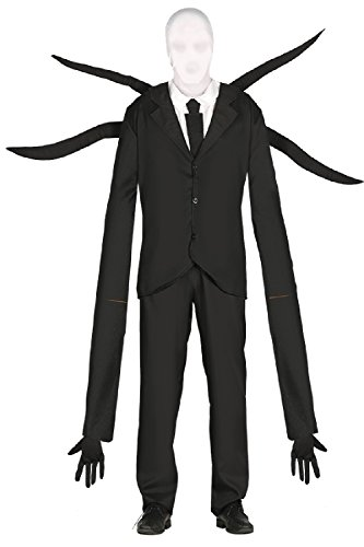Mens Black White Suited Alien With Inflatable Extra Long Arms Space Evil TV Book Film Halloween Stag Do Night Fancy Dress Costume Outfit (Men: Large)]()