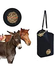 Horse Feeder Bag Waterproof, 600D Oxford Cloth Horse Slow Feed Hay Bag Canvas Hay Tote Feeding Supplies for Horses, Goats, Cows, Pony - Less Waste(46x18x35CM)
