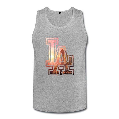 Fashion Los Angeles Dodgers La Men's Tank Top Tank HeatherGray Size XL