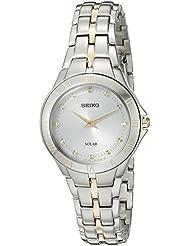 Seiko Womens Recraft Series Quartz Stainless Steel Dress Watch (Model: SUP308)