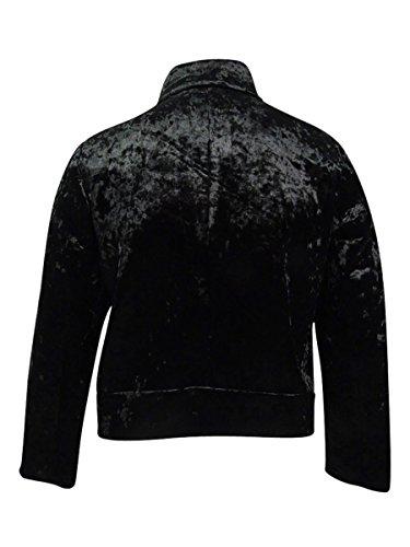Rachel Roy Black Funnel Jacket Neck Velvet Womens Plus Combo Rachel Bomber Crushed 4frw4
