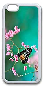 iPhone 6 Cases, Personalized Protective Case for New iPhone 6 Soft TPU White Edge Buterfly Spring by icecream design
