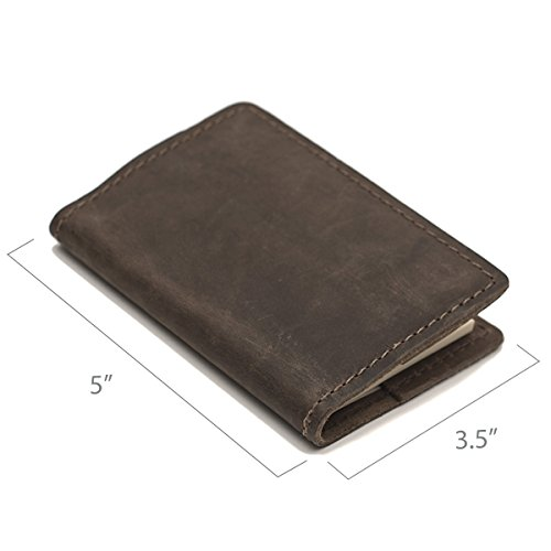 Leather Composition Notebook Covers (Pocket, Dark Brown)