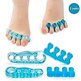 Belletek Toe Separators, Straighteners & Spacers for Relaxing Toes, Bunion Corrector Relief, Hammer