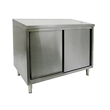 Amazoncom ACE Gauge Flat Top All Stainless Steel Cabinet - Enclosed stainless steel work table