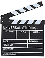 Acouto Professional Vintage Action Scene Clapperboard TV Movie Film Clap Board Slate Cut Prop Hollywood Director Clapper