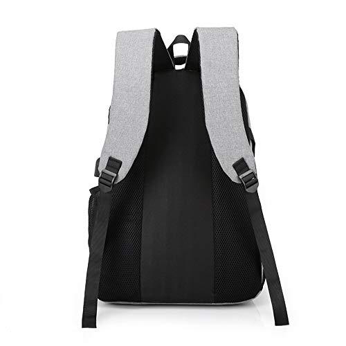 Avec Épaule Tissu Un Pour Usb Hommes Contrastante Sac De Porter Couleur Oxford Zlk Backpack À Chargement Rxt4PP