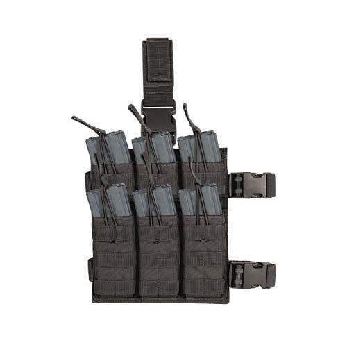 VooDoo Tactical 20-9319001000 M4/M16 6 Mag Drop Leg Shingle, Black