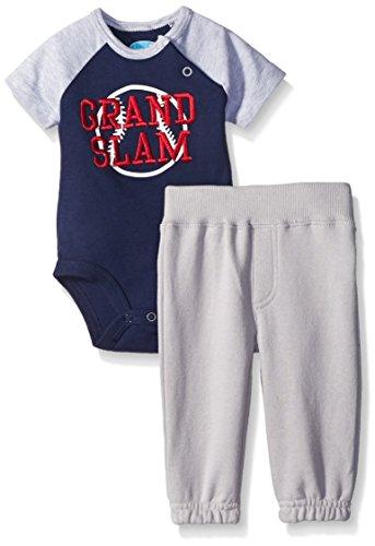 Bon Bebe Baby Boys' 2 Piece Sweatpant Set With Bodysuit, Grand Slam, 0-3 ()