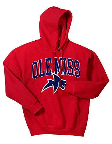(Elite Fan Shop Mississippi Ole Miss Rebels Hooded Sweatshirt Red Shark - L )