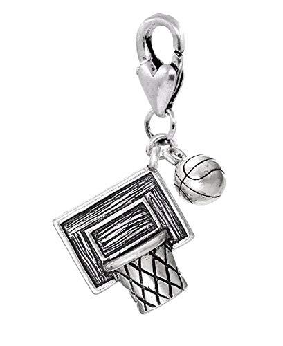 (Basketball Net Ball Team Sports NBA Lobster Claw Clip Dangle Charm for Bracelets)