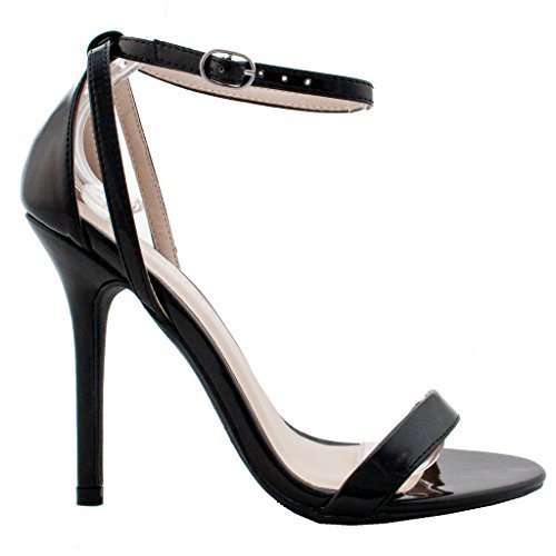 Wild Diva New Womens Fashion Ankle Strap Cut Out Sandals Pump Stiletto High Heel Shoes 9 US
