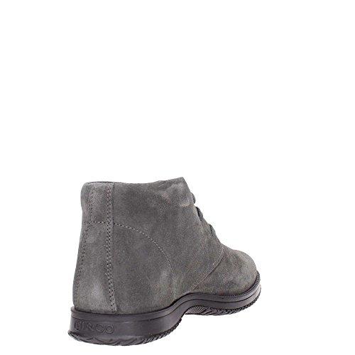 IGI & CO 66832 oscura calzado deportivo gris hombre botas de gamuza de alta del tobillo cordones Grigio scuro