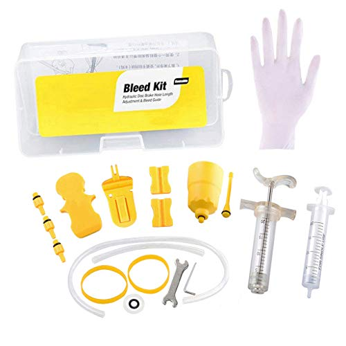 Wadoy Brake Bleed Kit for Shimano/Tektro Cycling Bike Hydraulic Mineral Oil Disc Brake Bleeding Kits Tool by Wadoy