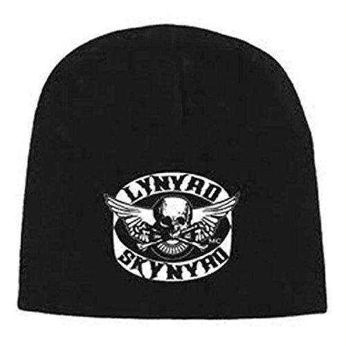 Lynyrd Skynyrd Rock - Rock Express Officially Licensed Lynyrd Skynyrd Black White Knit Beanie Cap Lynard Stocking Hat