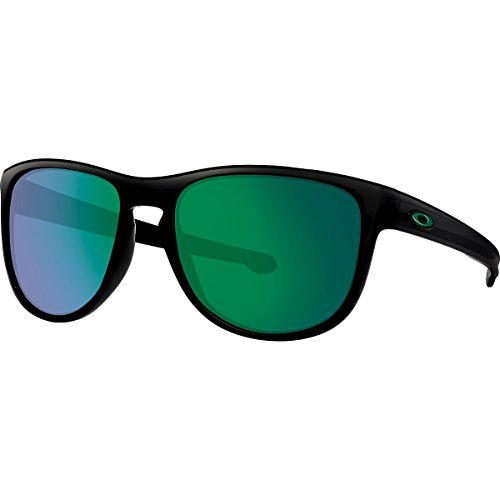 Oakley Men's Sliver R Non-Polarized Iridium Sunglasses, Matte Black with Jade Iridium, 57 - Iridium Jade Polarized