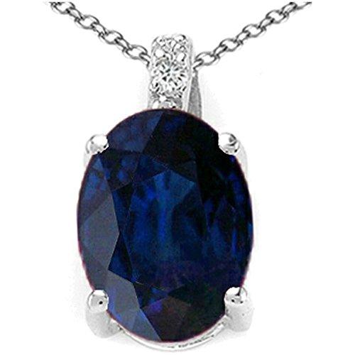 Round Yellow Sapphire Pendant - 8