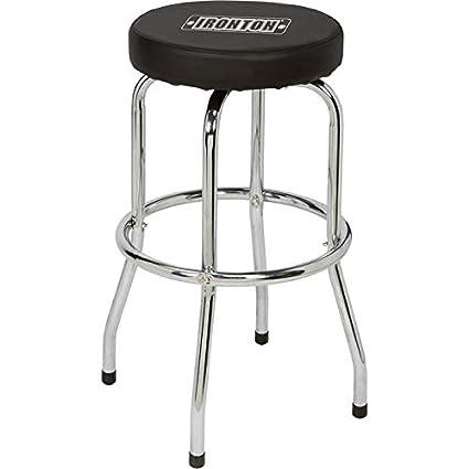Fine Amazon Com Ironton Swivel Shop Stool With Chrome Legs Ibusinesslaw Wood Chair Design Ideas Ibusinesslaworg