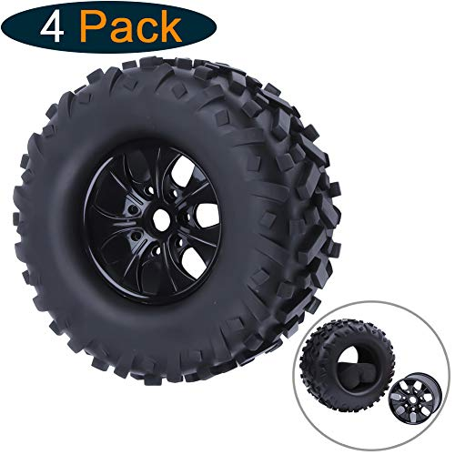 Hobbypark 175x85mm RC 1/8 Tires & Wheel Rims Super Large 17mm Hex Off Road Monster Truck All Terrain for HPI TRAXXAS Redcat HSP Exceed Baja (Set of 4)