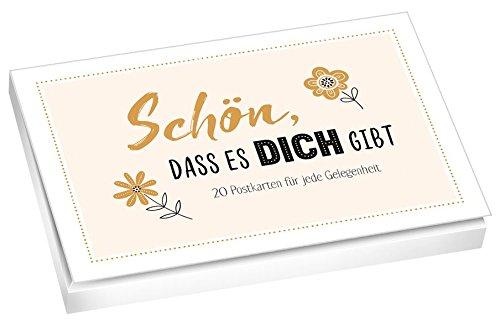 Schön, dass es dich gibt - Postkartenbuch: 20 Postkarten für jede Gelegenheit.