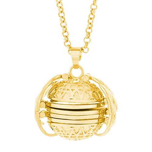Cathy Clara 3pcs Expanding Photo Locket Necklace Pendant Angel Wings Gift Jewelry Decoration