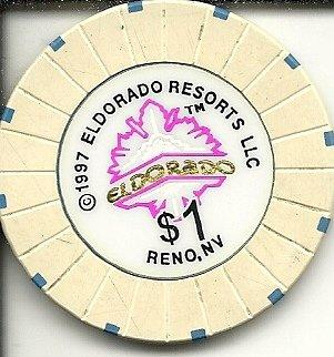 1 1997 Eldorado Resorts Reno Nevada Casino Chip