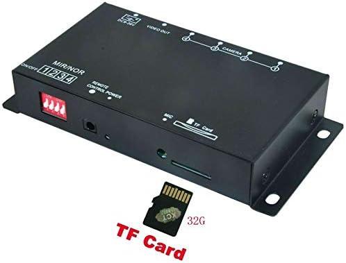 車のDVRレコーダー9-36V /駐車支援ビデオスイッチコンバイナーボックス360度左/右/フロント/リアカメラ (TFカード付き)