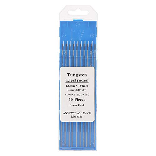 Caja de plástico, varilla de tungsteno TIG,