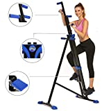 Hurbo Vertical Climber Home Gym Exercise Folding Climbing Machine Exercise Bike for Home Body Trainer Stepper Cardio Workout Training Non-Stick Grips Legs Arms Abs Calf (Black Blue)