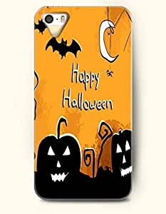 TYH - Allhalloween - OOFIT iPhone 4/4s Case Happy Halloween White Moon And Black Jack-O'-Lantern ending phone case