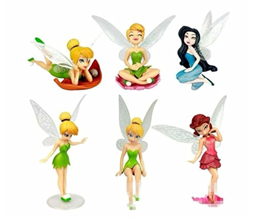 Tinkerbell Fairies Fairy Playset 6 Figure Cake Topper -