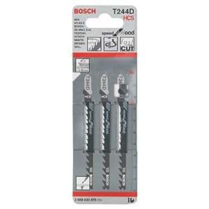 Bosch 2 608 630 879  - Hoja de sierra de calar T 244 D - Speed for Wood (pack de 3)