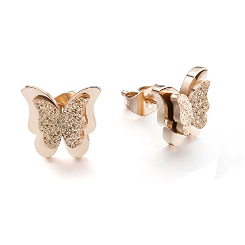 Morenitor Butterfly Earrings Stainless Steel
