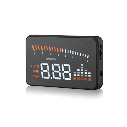 Gohyo 3 inch ODM2 HUD Car Windshield Speedometer Vehicle Speeding Alert Warning MPH Fuel Consumption with Anti-slip Pad