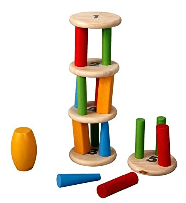 Plantoys Plan Preschool Tower Tumbling Game And Puzzle by Plan Toys