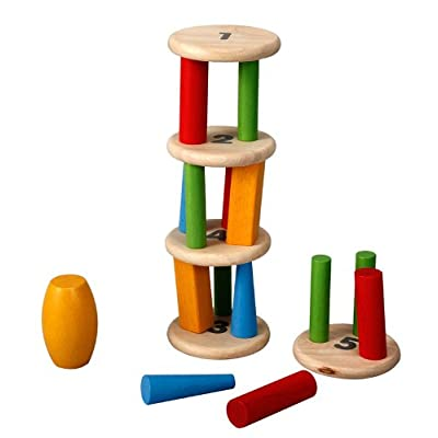 PlanToys Plan Preschool Tower Tumbling Game and Puzzle: plan toys: Toys & Games