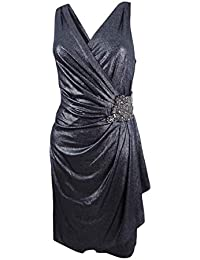 Womens Cocktail Faux Wrap Party Dress