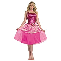 Womens Deluxe Barbies Princess Charm School Costume by Disguise - Size 12 to 14